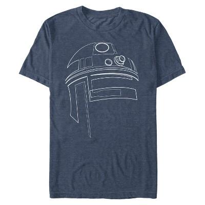 Men's Star Wars R2-D2 Outline T-Shirt