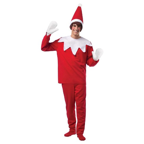 Men's Elf on the Shelf Costume - image 1 of 1