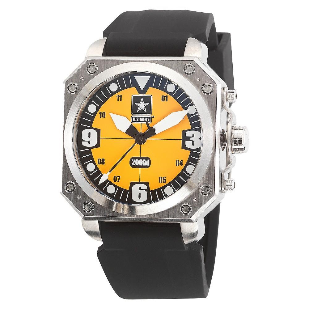Men's' Wrist Armor U.S. Army C4 Swiss Quartz Watch - Black, Size: Small, Yellow