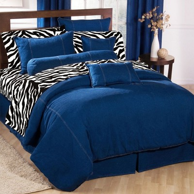 Blue American Denim Comforter King - Karin Maki