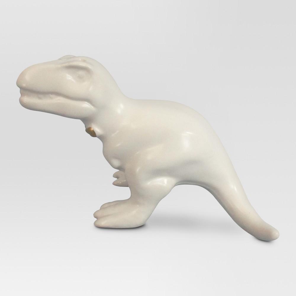 T-Rex Pepper Shaker Stoneware White - Threshold