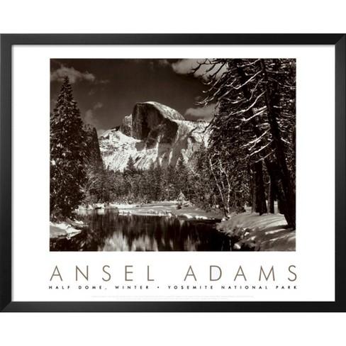Art Merced River Winter By Ansel Adams Framed Print