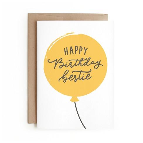 Minted Happy Birthday Bestie Card Target