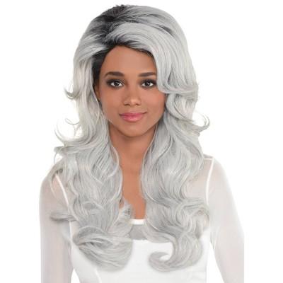 Adult Luscious Halloween Costume Wig Gray