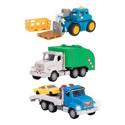 DRIVEN – Small Toy City Vehicle Set – Micro Urban Worker Fleet - 3 pk
