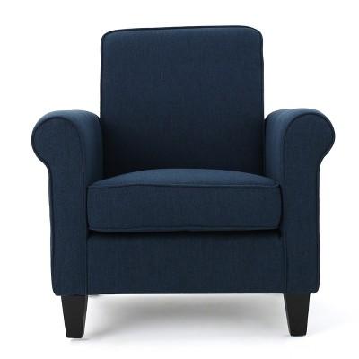Freemont Club Chair - Dark Blue - Christopher Knight Home