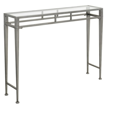 Gold Coast Julia Hall Console Table - Silver - Johar Furniture - image 1 of 5
