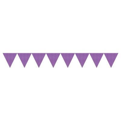 Amethyst Polka Dot Flag Banner Purple