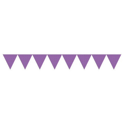 Creative Converting Amethyst Purple Polka Dot Flag Banner - image 1 of 1