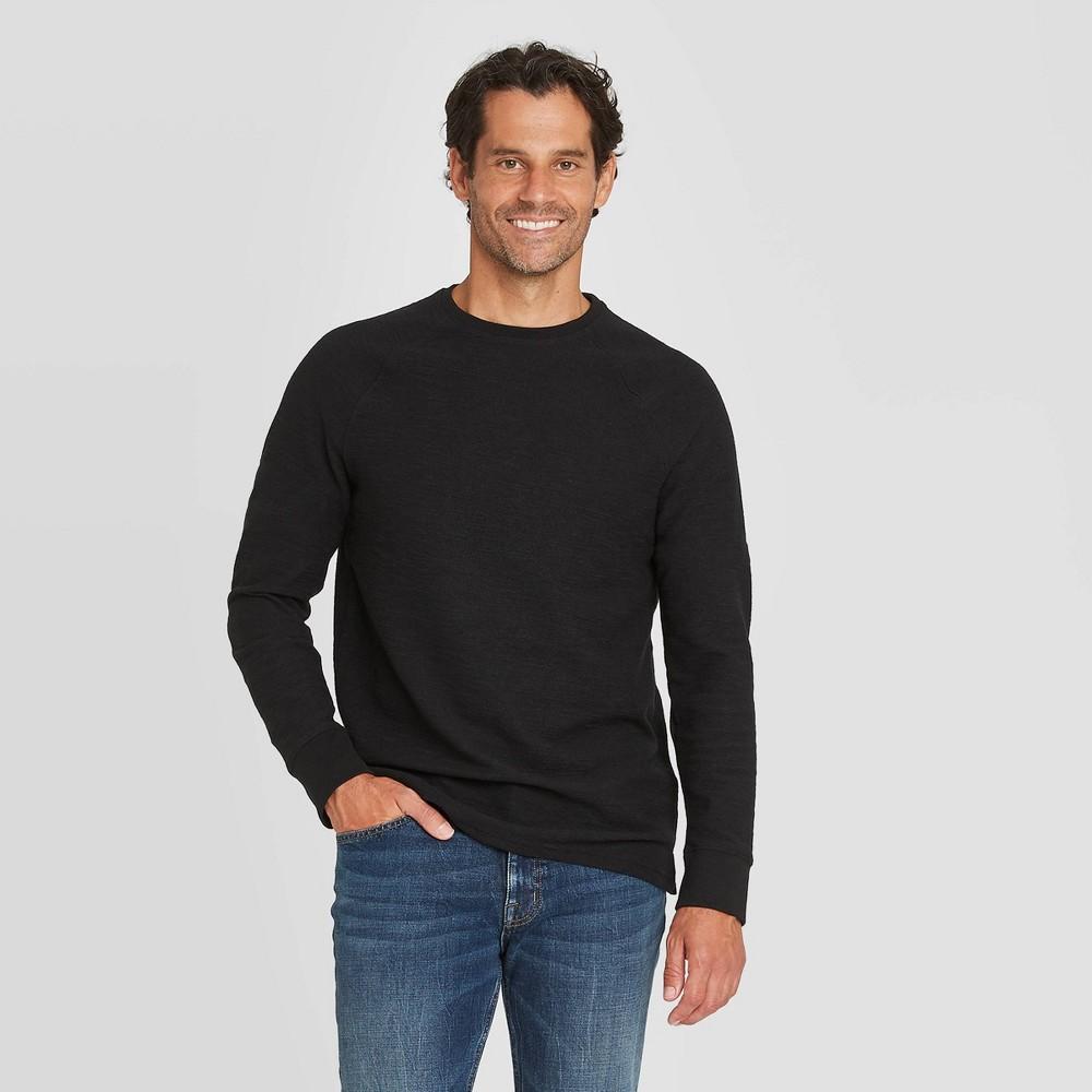 Discounts Men's Standard Fit Long Sleeve Textured Crew Neck T-Shirt - Goodfellow & Co™