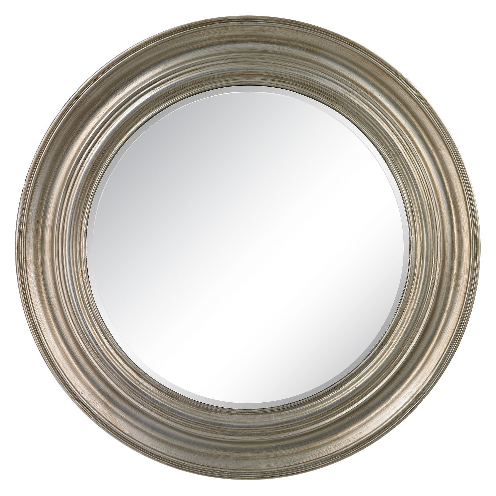 Round Decorative Wall Mirror Silver - Lazy Susan