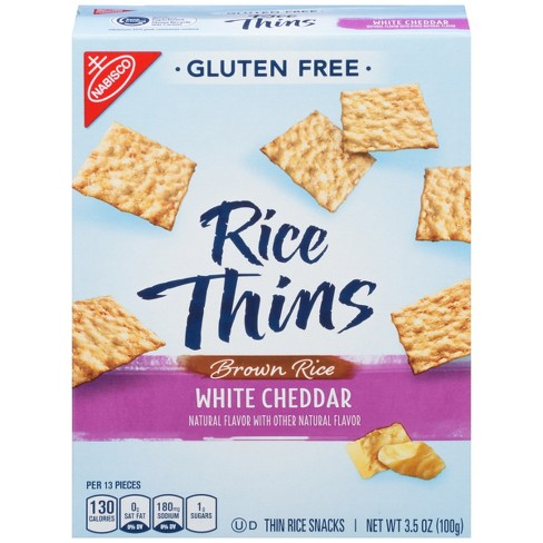 Good Thins Brown Rice White Cheddar Crackers - 3.5oz - image 1 of 3