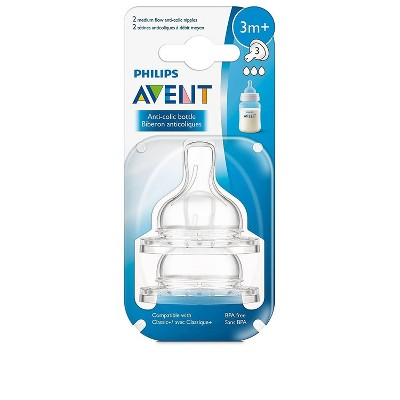 Philips Avent Medium Flow Nipple - 2pk