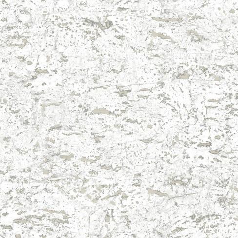 Faux Cork Peel & Stick Wallpaper White - RoomMates - image 1 of 4