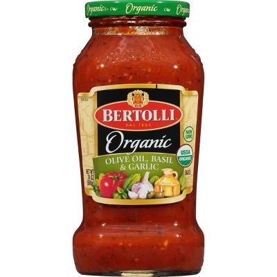 Bertolli Organic Traditional Olive Oil, Basil & Garlic Pasta Sauce - 24oz