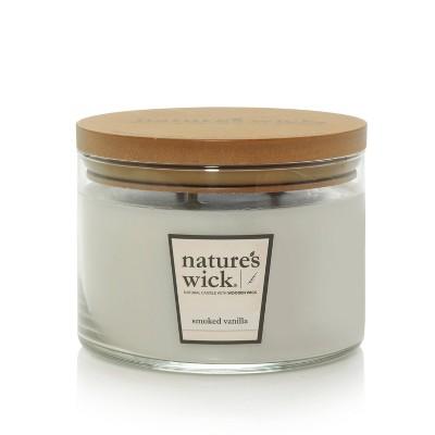 18oz Glass Jar 3-Wick Candle Smoked Vanilla - Nature's Wick