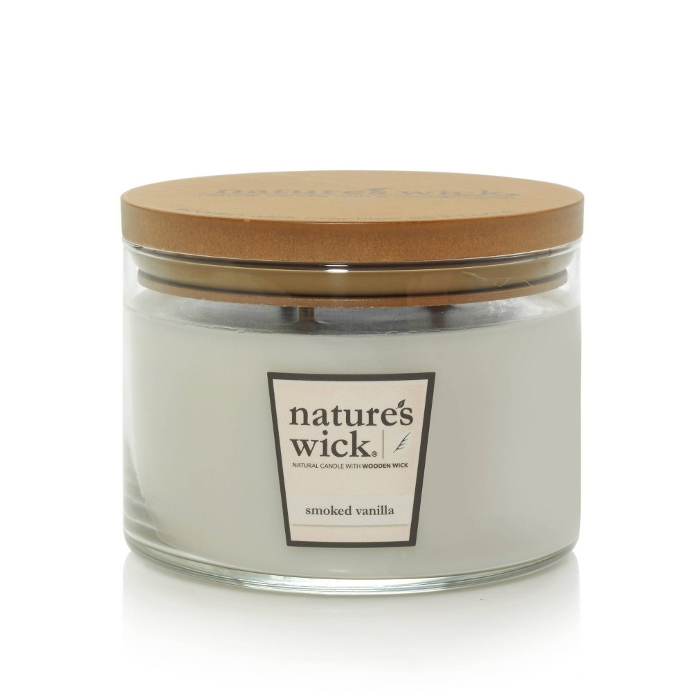 Image of 18oz Glass Jar 3-Wick Candle Smoked Vanilla - Nature's Wick