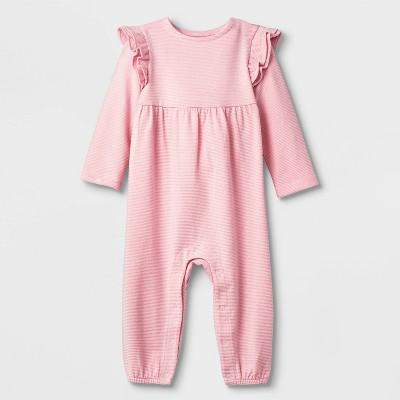 Baby Girls' Lurex Knit Romper - Cat & Jack™ Pink 0-3M