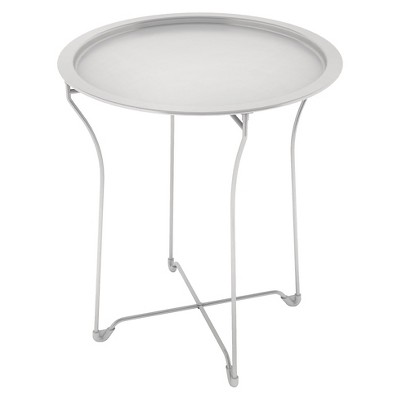 Metal Accent Table White - urb SPACE