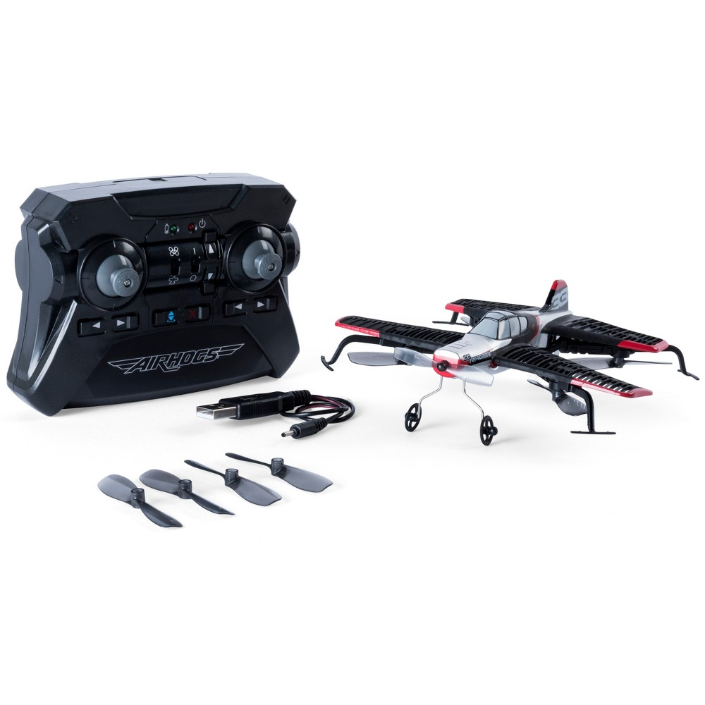 Image of 2-in-1 Air Hogs AirJet Drone Plane with Sharp Turn Capabilities – Red
