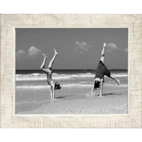 """11"""" x 14"""" Washed Wood Frame White - Threshold™ - image 1 of 2"""