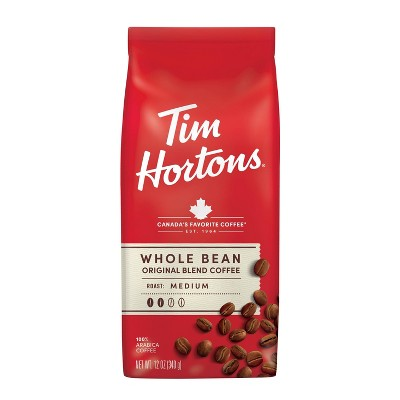 Tim Hortons Medium Roast Whole Bean Coffee - 12oz