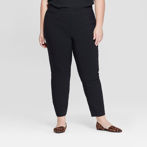 Women\'s Plus Size Pull-On Skinny Ankle Pants - Ava & Viv™