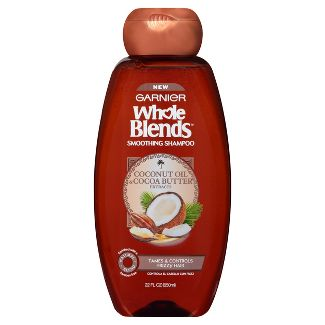 Garnier Whole Blends Coconut Oil & Cocoa Butter Extracts Smoothing Shampoo - 22 fl oz