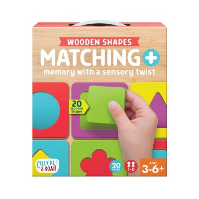 Chuckle & Roar Matching + Wooden Sensory Kids Game