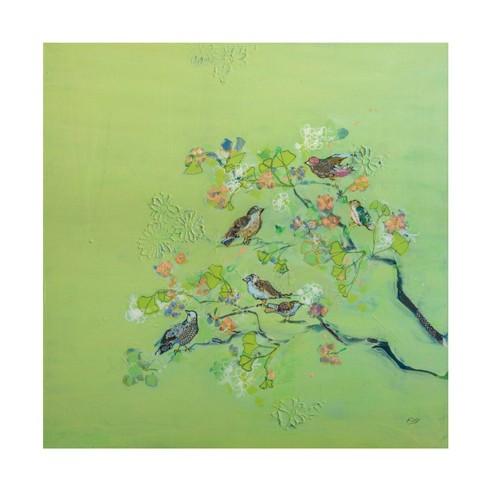 "24"" x 24"" Kellie Day 'Bird Song' Unframed Canvas Art - Trademark Fine Art - image 1 of 4"