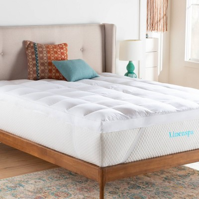 "Twin Essentials 3"" Down Alternative Mattress Topper - Linenspa"
