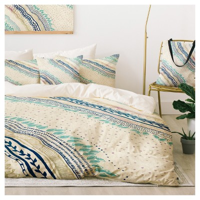 Blue Rosebudstudio Carefree Duvet Cover Set (Twin XL) - Deny Designs