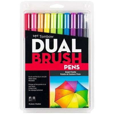 10pk Dual Brush Pen Art Markers Bright Palette - Tombow