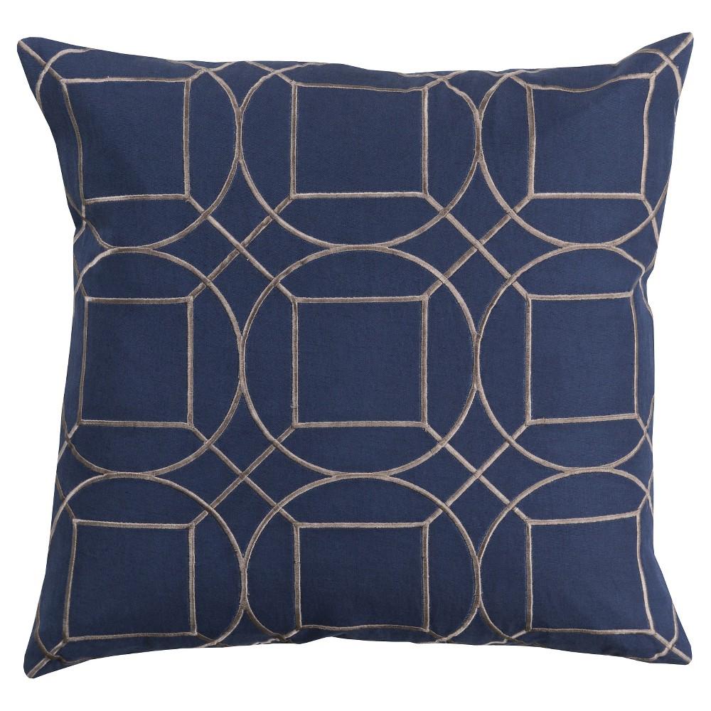 Cobalt (Blue) Villanova Geometric Throw Pillow 20