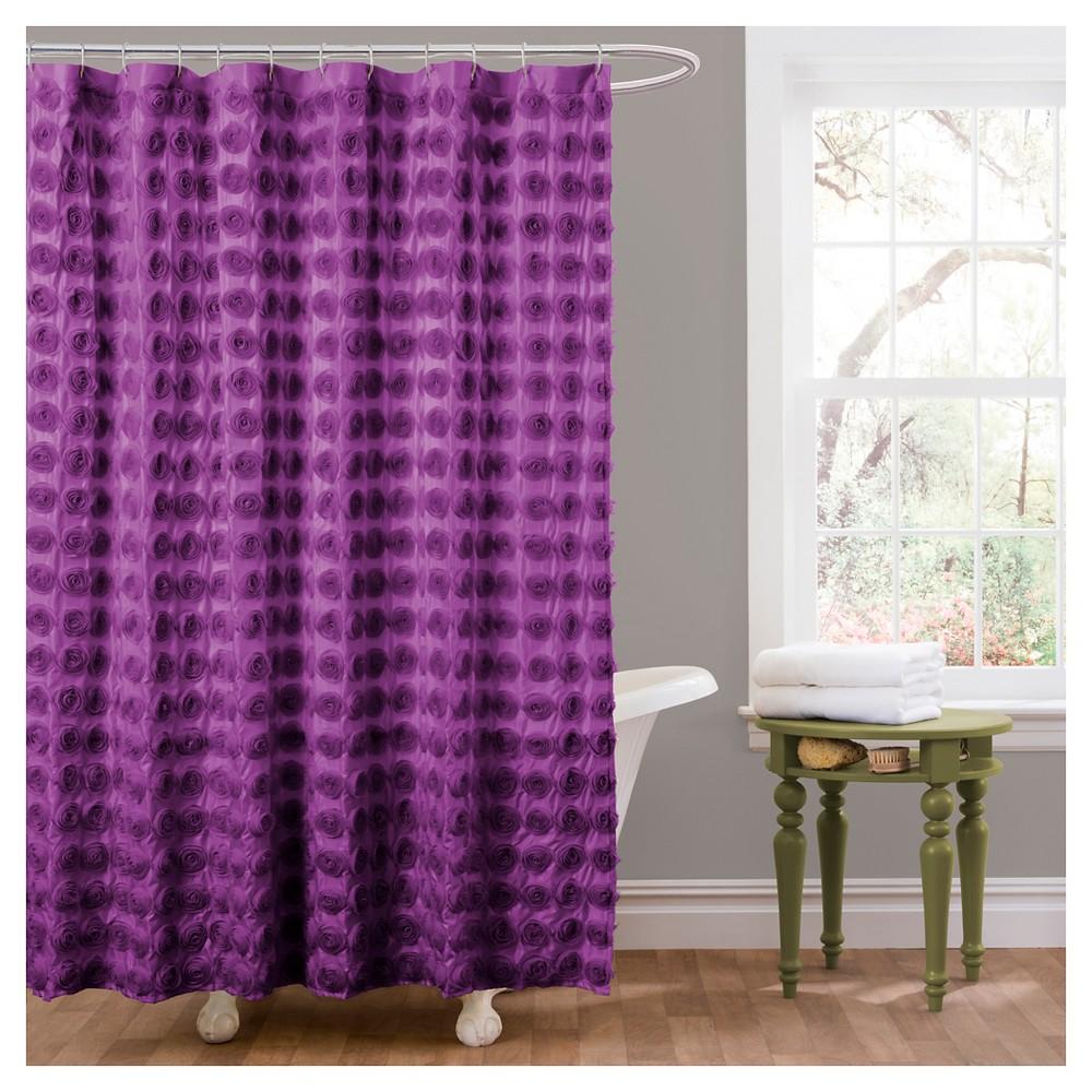 Emma Shower Curtain Purple - Lush Décor