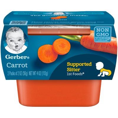 Gerber 1st Foods Baby Food Carrot - 2oz (2ct)