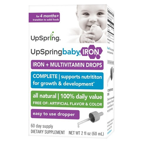 UpSpring Wellbaby Iron + Multivitamin Drops - 2oz - image 1 of 1