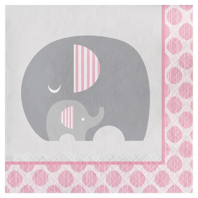 16ct Little Peanut Girl Elephant Napkins
