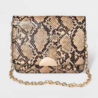 Women's Snake Print Fanny Pack With Chain - A New Day™