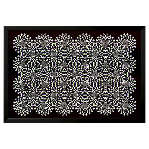 Optical Illusion Black Wood Framed Poster - image 1 of 3