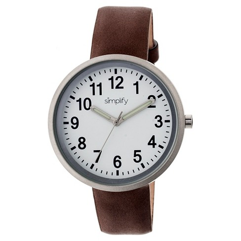 Simplify The 2600 Women's Leather Strap Watch - image 1 of 3