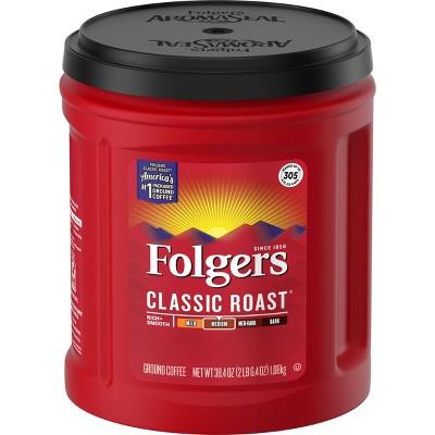 Folgers Classic Roast XL Can Medium Roast Coffee - 38.4oz