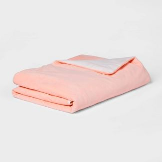 "40""x60"" 6lbs Waterproof Removable Cover Weighted Blanket Pink - Pillowfort™"