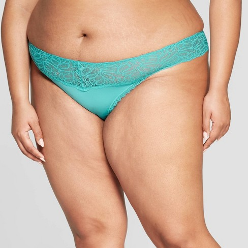 be42a6966f1 Women s Plus Size Micro Thong With Lace Waistband - Auden™ Dapper ...