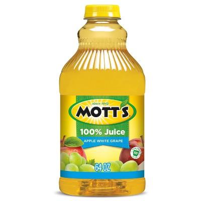 Mott's 100% Apple White Grape Juice - 64 fl oz Bottle
