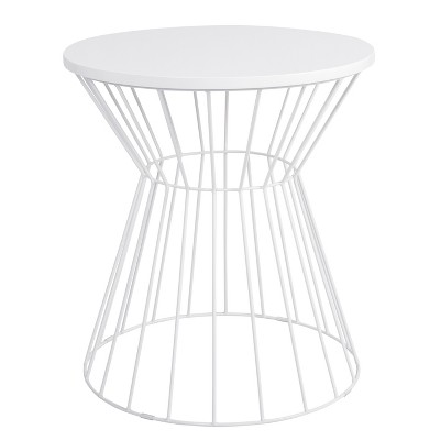 Bent Metal Side Table White - Adore Decor