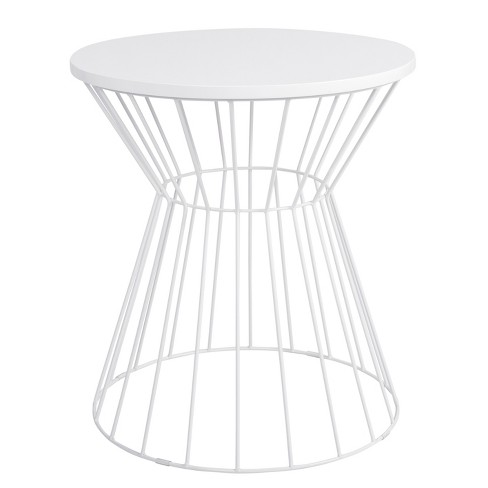 Bent Metal Side Table White - Adore Decor - image 1 of 7