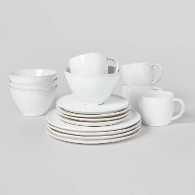 16pc Stoneware Houlton Dinnerware Set White - Threshold™