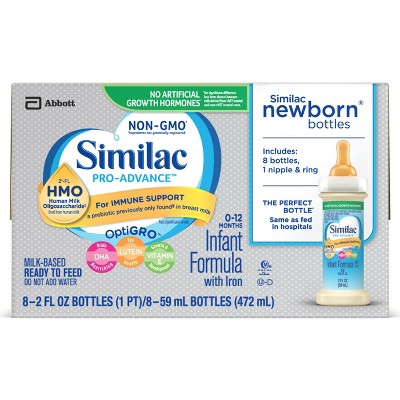 Similac Advance Non-GMO Infant Ready-to-Feed Formula with Iron - 2 fl oz (Pack of 8)