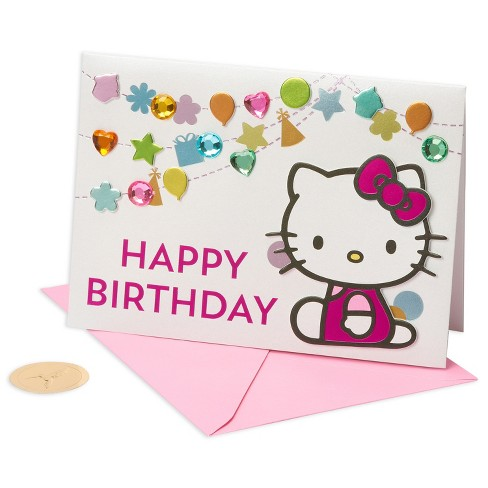 Papyrus Hello Kitty Confetti Birthday Card - image 1 of 4